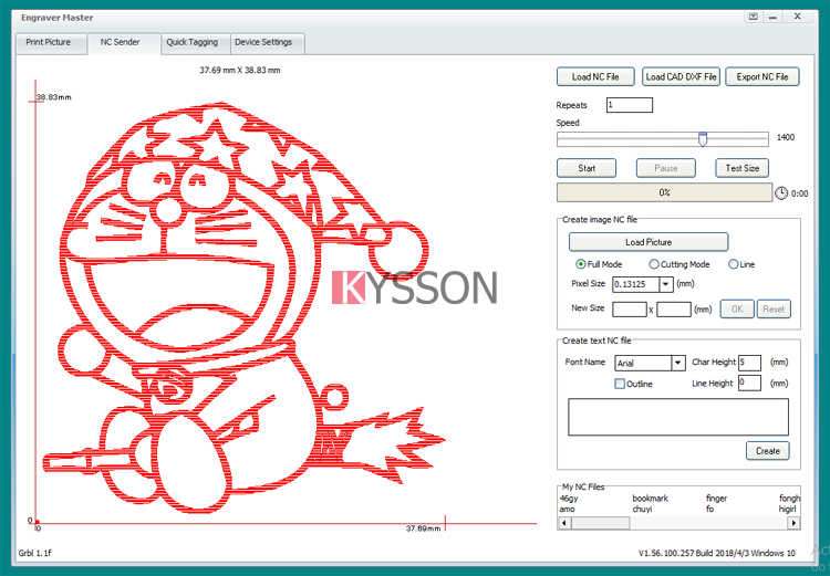 Engraver Master software - KYSSON - Mini Laser Engraving